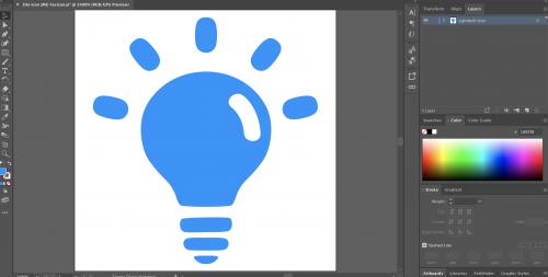 Site Icon Creating Using Adobe Illustrator